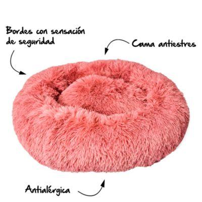 Cama Fluffy Antiestrés Rosada -Talla S