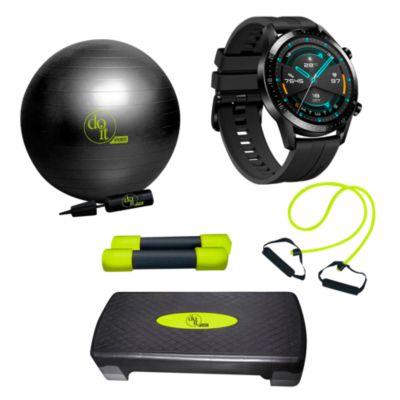 Combo Smartwatch GT2 B19S Negro + Set de accesorios