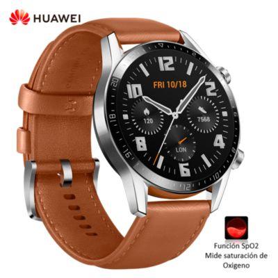 Smartwatch GT2 B19S con función de Oxímetro Marrón + Correa Negra