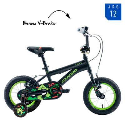 "Bicicleta Spine Aro 12"" Negro/Amarillo"