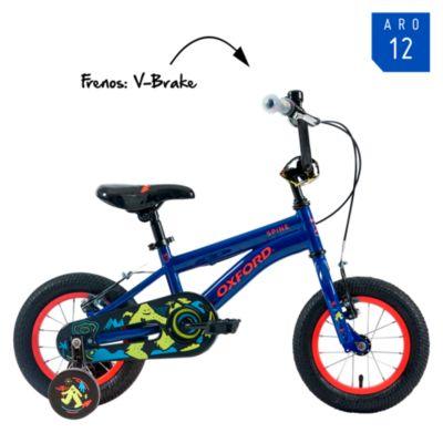 "Bicicleta Spine Aro 12"" Negro/Azul"