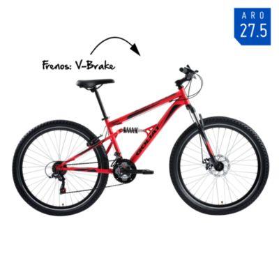 Bicicleta Hombre Sierra Negro/Rojo - aro 27.5