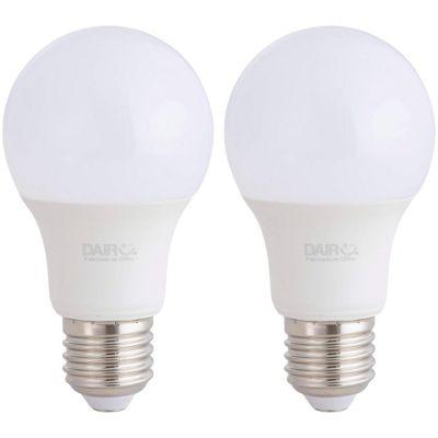 Pack x2 Foco LED Bulbo A60 7.5W E27 Luz Blanca