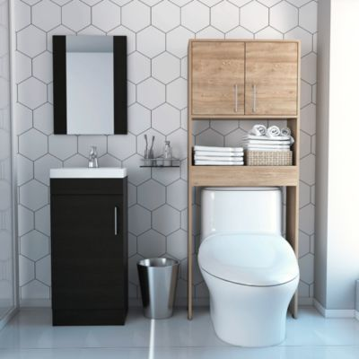Combo My Bath Botiquin + Mueble Lavamanos + Optimizador Miel /Wengue