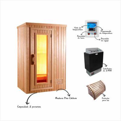 Cabina de Sauna 200x150x100cm 2 Caras