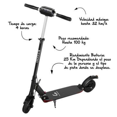 Patineta Scooter Eléctrica con Pantalla S1