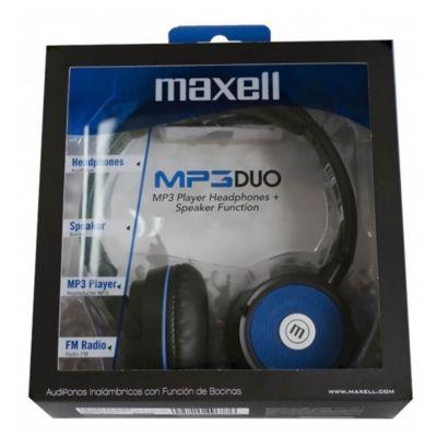 Audífonos MP3 Duo Stereo Media Player HeadPhones Azul
