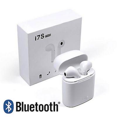 Audífonos Bluetooth Inalámbricos I7W TWS c/Carga Portátil