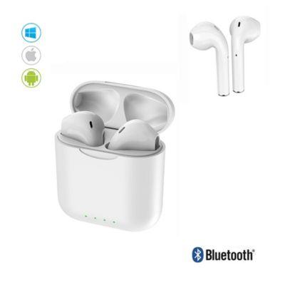 Audífonos Bluetooth Inalámbricos I88 TWS c/Carga Portátil Blanco
