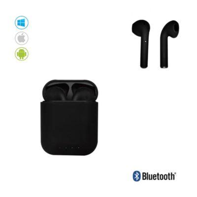 Audífonos Bluetooth Inalámbricos I88 TWS c/Carga Portátil Negro