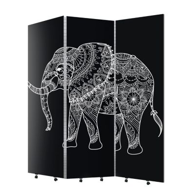 Biombo Elefante Black 3 hojas