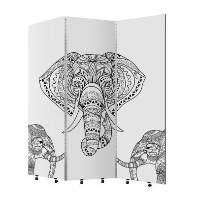 Biombo Elefante 3 hojas ruedas