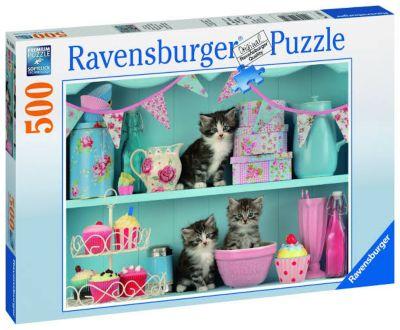 Rompecabezas 500 piezas Gatos y Cupcakes