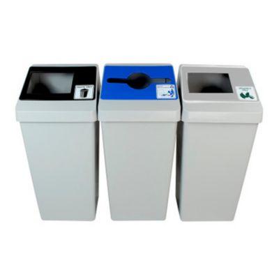 Punto Ecológico Smart Cubo 3 Cuerpos Gris