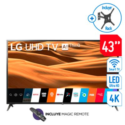 Televisor Smart LED 4K Ultra HD 43'' 43UM7100CR + Magic Control + Rack