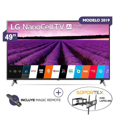 Televisor Smart NANO CELL 4K Ultra HD 49'' 49SM8000R + Magic Control + Rack