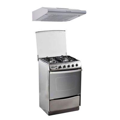 Cocina a Gas 4 Hornillas Stellare + Campana Extractora