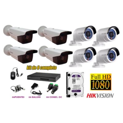 Kit 8 Cámaras de Seguridad Exterior FULLHD 1080P IT3F Disco 1TB WD