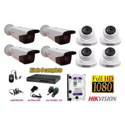 Kit 8 Cámaras de Seguridad FULLHD 1080P IT3F Disco 1TB WD