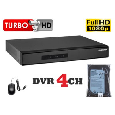 DVR Grabador de Video 4 Canales F1, Disco 500GB
