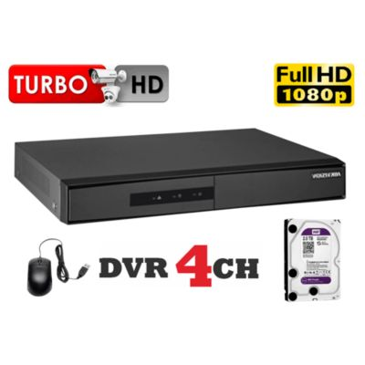 DVR Grabador de Video 4 Canales F1, Disco 1TB WD Purpura