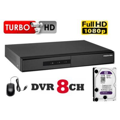 DVR Grabador de Video 8 Canales F1, Disco 1TB WD Purpura