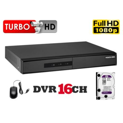 DVR Grabador de Video 16 Canales K1, Disco 1TB WD Purpura