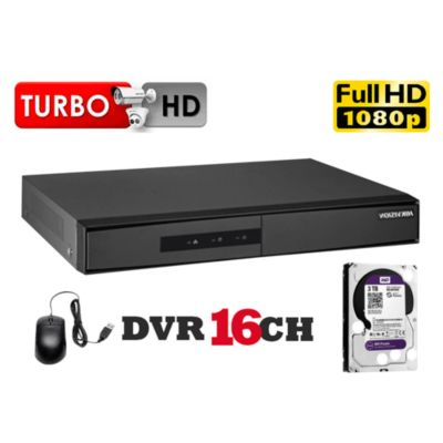 DVR Grabador de Video 16 Canales K1, Disco 2TB WD Purpura