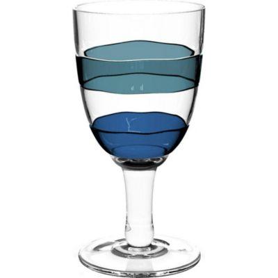 Copa Acrílico Anillos Azul 384mL