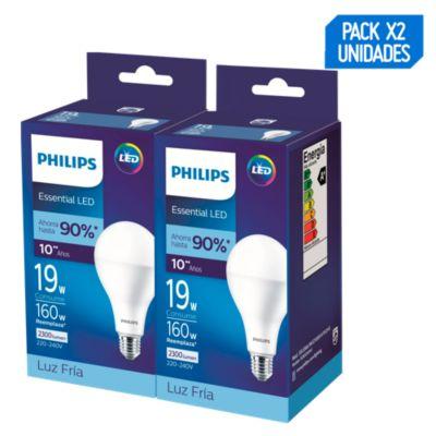 Pack x2 Focos LED Alta Potencia 19w A80 Luz Blanca 2300 lúmenes