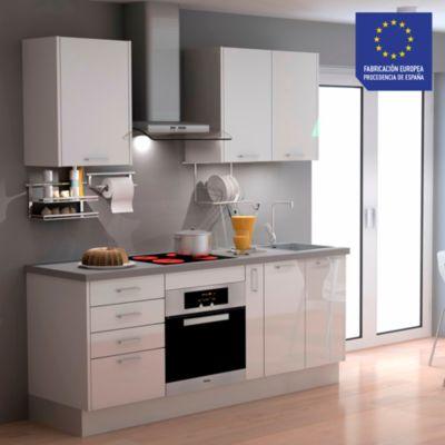 Mueble de Cocina Modular Laminado HPL 199 cm Blanco