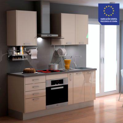 Mueble de Cocina Modular Laminado HPL 199 cm Crema