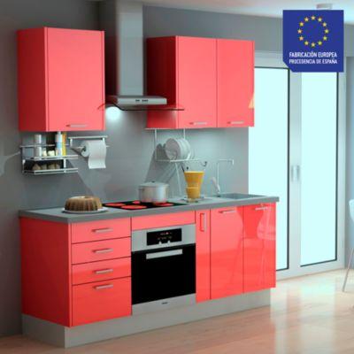 Mueble de Cocina Modular Laminado HPL 199 cm Rojo