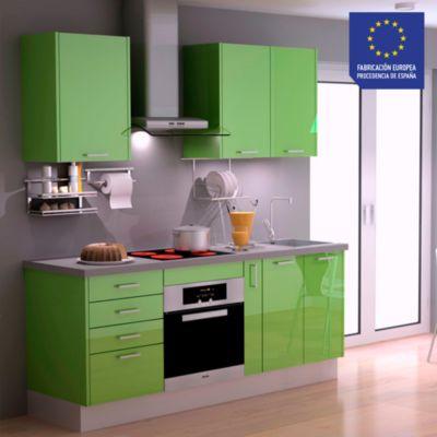 Mueble de Cocina Modular Laminado HPL 199 cm Verde