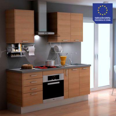 Mueble de cocina modular Laminado DPL 199 cm Tabaco