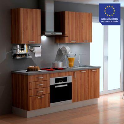 Mueble de Cocina Modular Laminado DPL 199 cm Nogal Natural