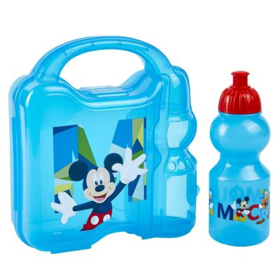 Set Hermético + Botella 350ml Mickey Mouse