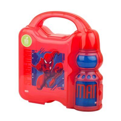 Set Hermetico y Botella 350ml Spiderman