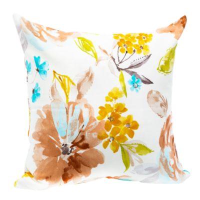 Cojín Decorativo Flores Primavera Marrón/Amarillo