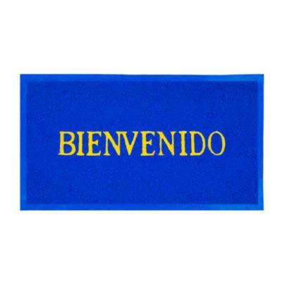 Felpudo Bienvenido Azul 58x38cm