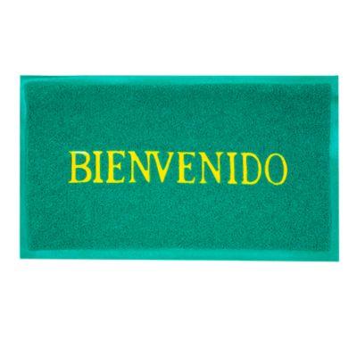 Felpudo Bienvenido Verde 58x38cm