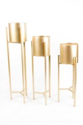 Maceta Gold con Base S 63 cm