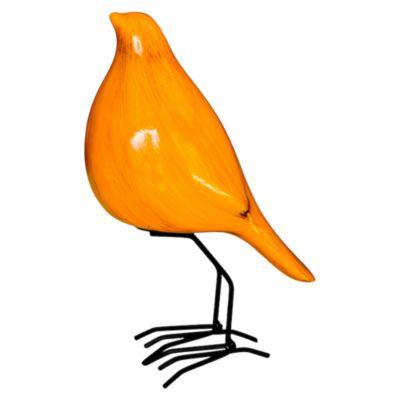 Escultura Pájaro Frente Tibet Amarillo