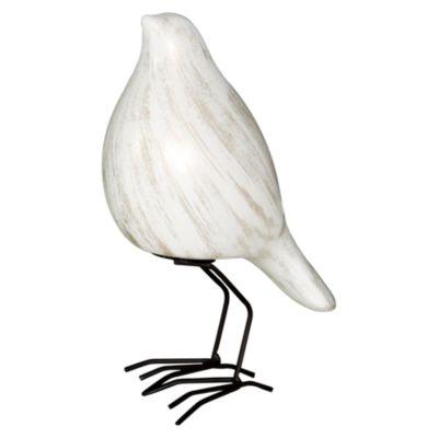 Escultura Pájaro Frente Tibet Blanco