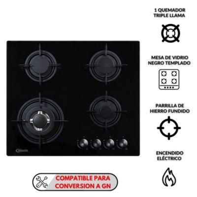 Cocina Empotrable 4 Quemadores Nina 60 Pro