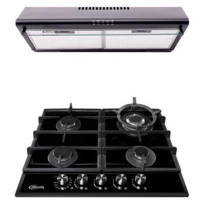 Combo Cocina Empotrable Aosta 60 Pro + Campana 60cm CK601NE/M