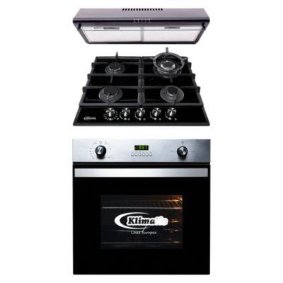 Tricombo Cocina Empotrable Aosta 60 Pro + Horno Empotrable a Gas KO60-GC + Campana 60cm CK601NE/M