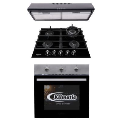 Tricombo Cocina Empotrable Trevi 60 Pro + Horno Empotrable a Gas Lubeck Bc + Campana 60cm CK601NE/M