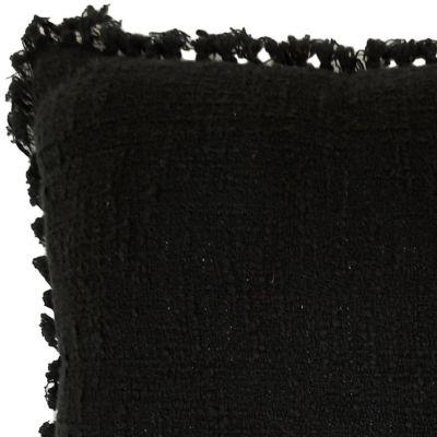Cojín Redondo Flecos Negro 45x45cm