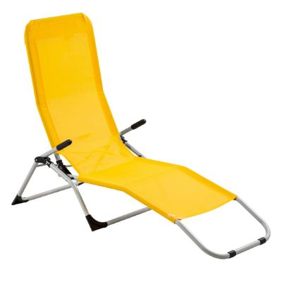 Reposera Plegable Relax Amarillo
